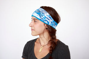 Teal and Navy Andulusia Fitness Headband