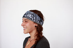 Black Bandana Fitness Headband