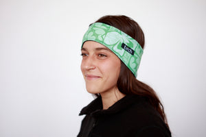 Mint Floral Polartec Lined Headband