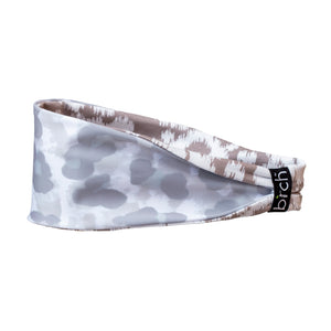 White Camo Reversible Fitness Headband