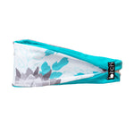 Teal, Grey on White Fitness Headband