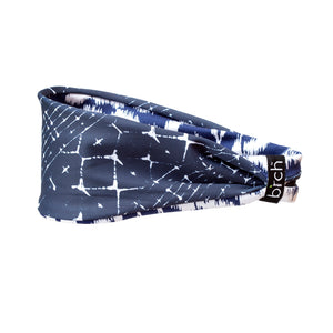 Navy Burst Reversible Fitness Headband