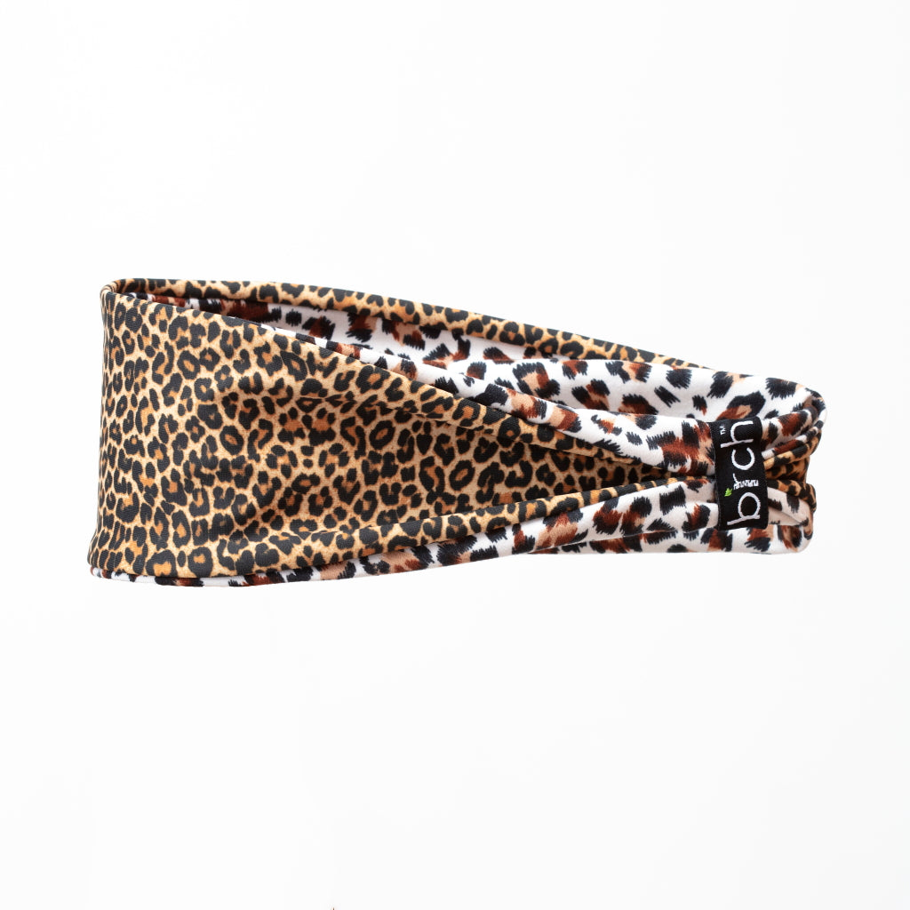 Leopard with White Jaguar Reversible Fitness Headband
