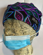 Peacock Purple Scrub Hat