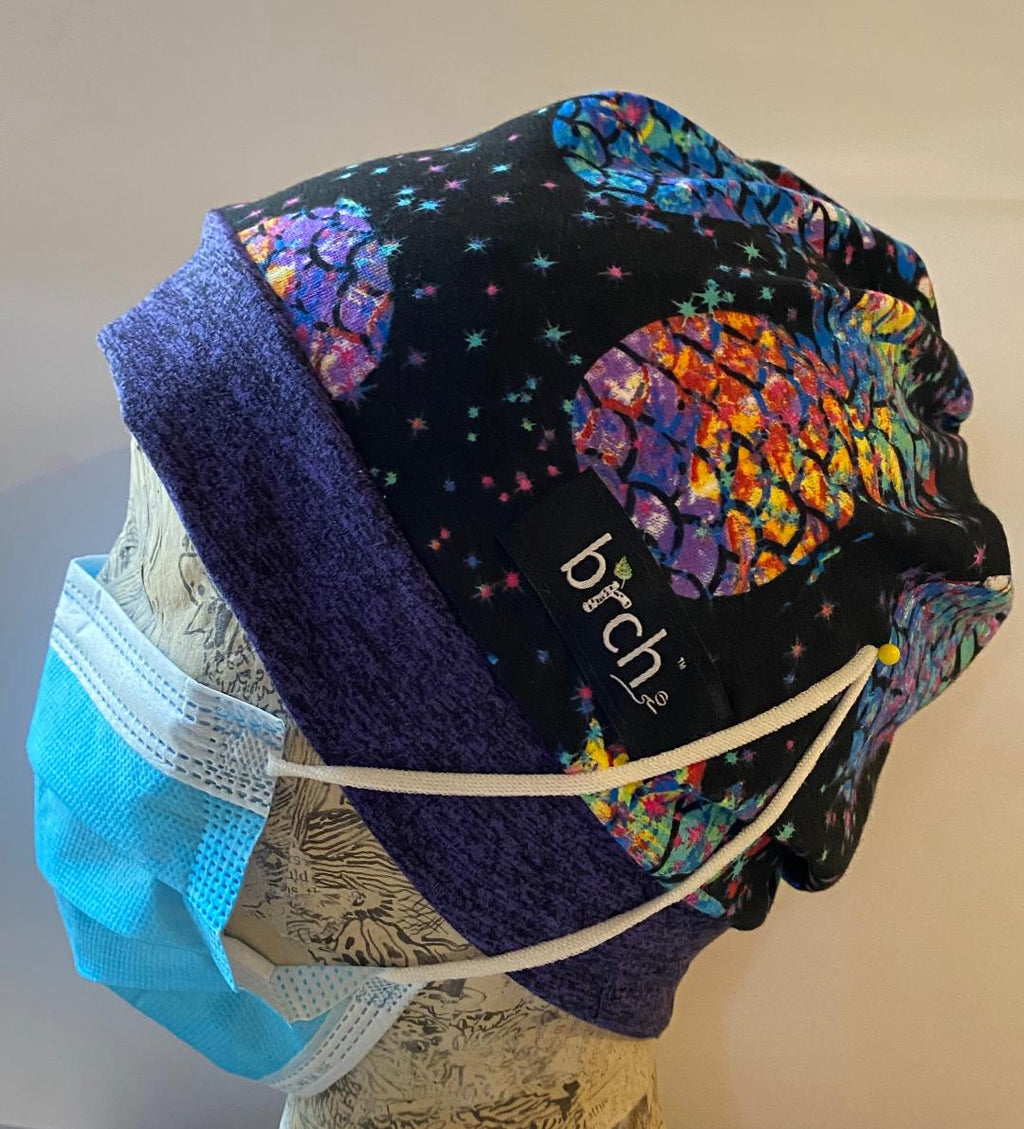 Pineapple Rainbow Scrub Hat