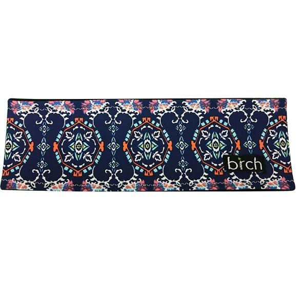 Navy Peach Mosaic Polartec Lined Headband
