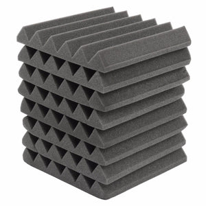 8Pcs 305 x 305 x 45mm Soundproofing Foam Acoustic Foam Sound Treatment Studio Room Absorption Wedge Tiles Polyurethane foam