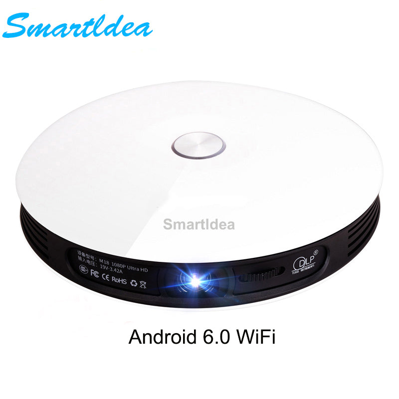 Smartldea M18 Projector HD 1080p Android 6.0 WiFi Mini Smart Home Cinema 3D Proyector Battery Beamer Support AirPlay Miracast