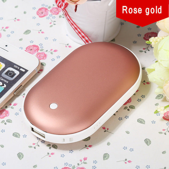 Hand Warmer Pocket Rechargeable Portable Mini 5V USB Winter Powered Bank Double Heating Electric Explosion-proof Stove Warmer Po