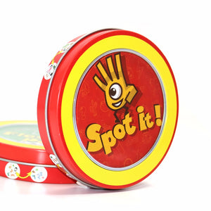 Newest spot it board game quality paper with metal box best gift for your friend cards game