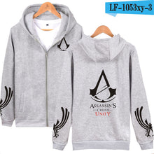 Classic RPG Game Hooded Hoodies Men Zipper Assassins Creed Aveline Fashion Black Sweatshirts Men Zipper Hoodies Casual Clothes