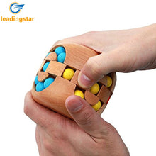 LeadingStar Wooden 3D Puzzle Cube Intelligence Toys Kongming Luban Lock Bead Puzzles Cube Toy for All Ages zk30