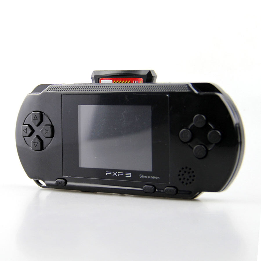 Portable 16 Bit PXP3 Handheld Game Player Video Game Console with AV Cable+2 Game Cards Classic Child Games PXP 3 Slim Station