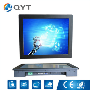 "OEM and ODM LCD Display Resistance 17"" 1280*1024 lcd/led Display Touch Embedded Monitor With DC/VGA"