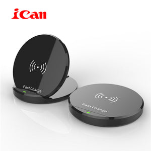 iCan New arrival Wireless Charger For iPhone 8/8Plus/X 10W Qi Fast Wireless Charging Pad for Samsung S8/S8+/S7Edge/S6Edge+/Note5
