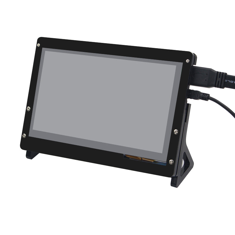 7 Inch LCD Acrylic Case Raspberry Pi LCD Touch Screen Display Monitor Bracket Case for Raspberry Pi 3 LCD