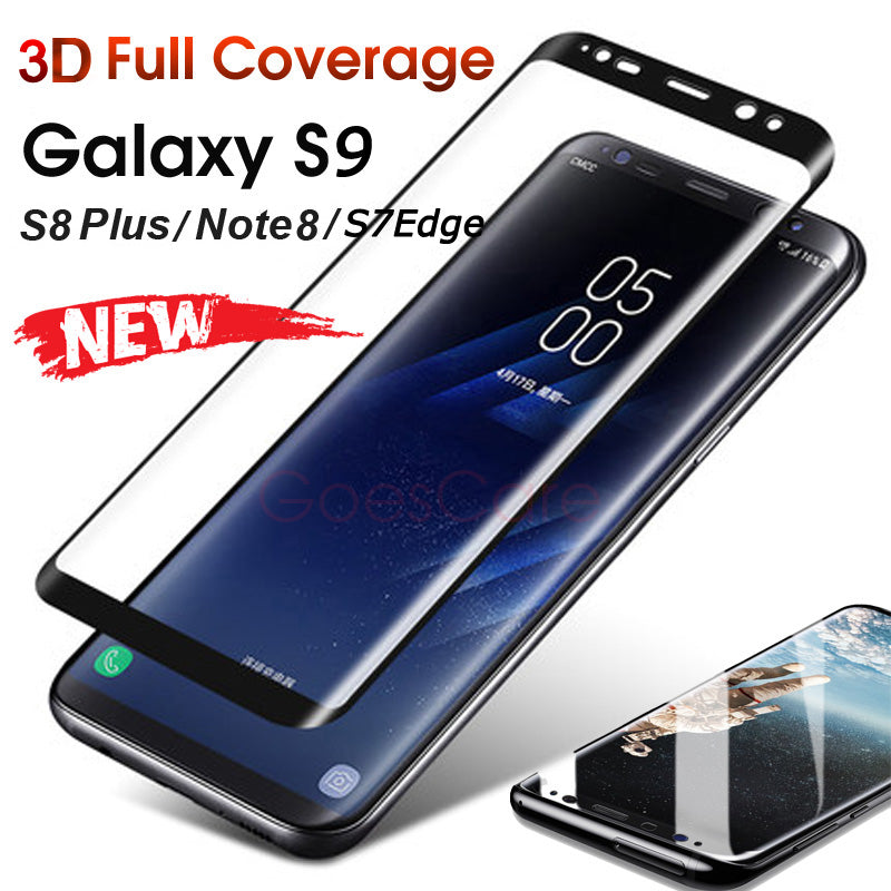 3D Full Cover Tempered Glass For Samsung Galaxy Note 8 Screen Protector For Galaxy S9 S8 Plus For Galaxy S7 Edge Protective Film