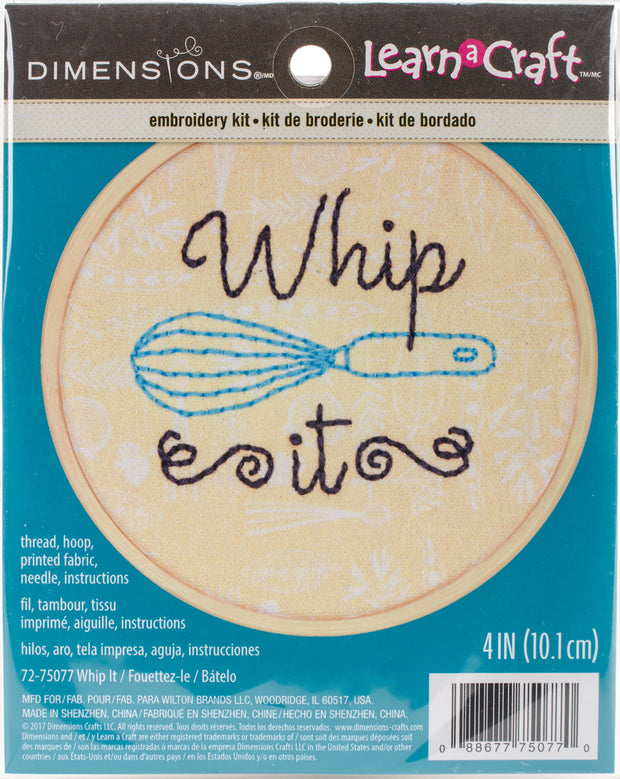 "Dimensions/Short N' Sweet Mini Embroidery Kit 4""-Whip It-Stitched In Thread"
