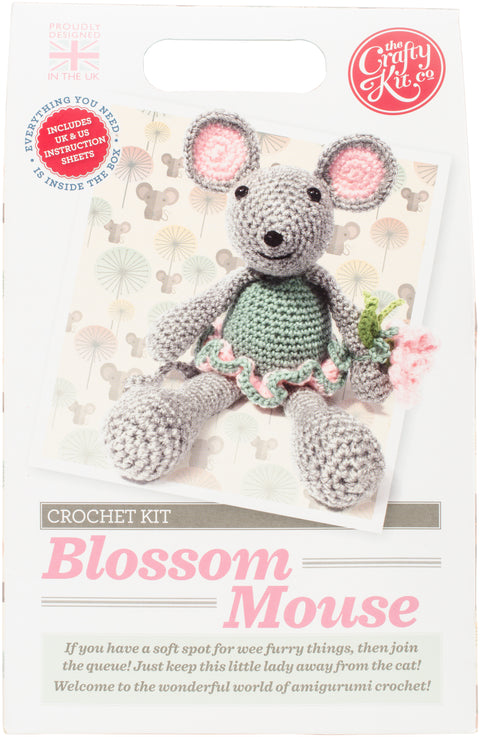 The Crafty Kit Co. Crochet Kit-Blossom Mouse