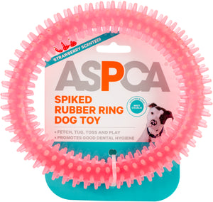 ASPCA Spiked Rubber Ring Dog Toy-Pink