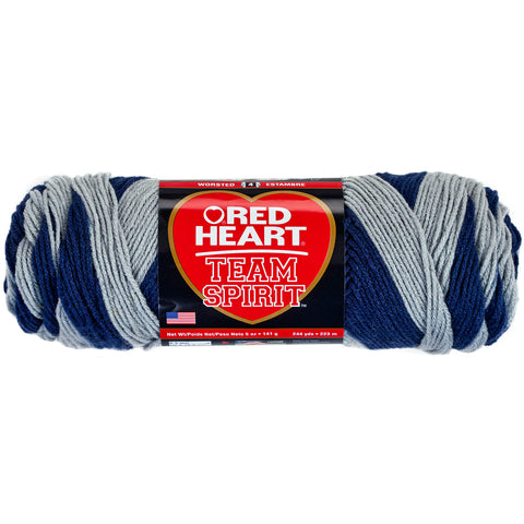 Red Heart Team Spirit Yarn-Navy & Grey