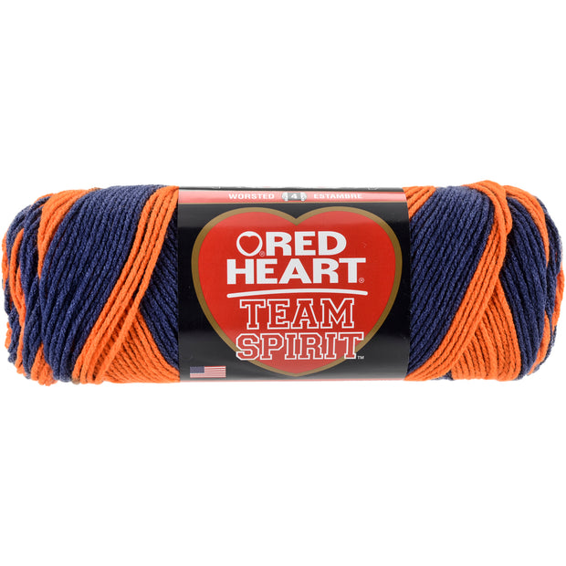 Red Heart Team Spirit Yarn-Orange & Navy