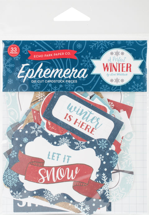 A Perfect Winter Ephemera Cardstock Die-Cuts 33/Pkg-Icons