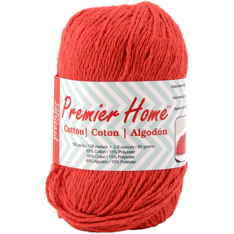Premier Yarns Home Cotton Yarn - Solid-Cranberry