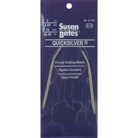 "Quicksilver Circular Knitting Needles 16""-Size 10.5/6.5mm"
