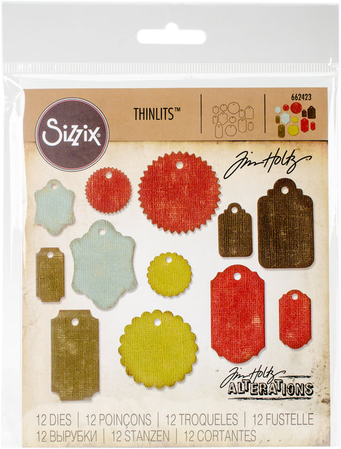 Sizzix Thinlits Dies By Tim Holtz 12/Pkg-Gift Tags