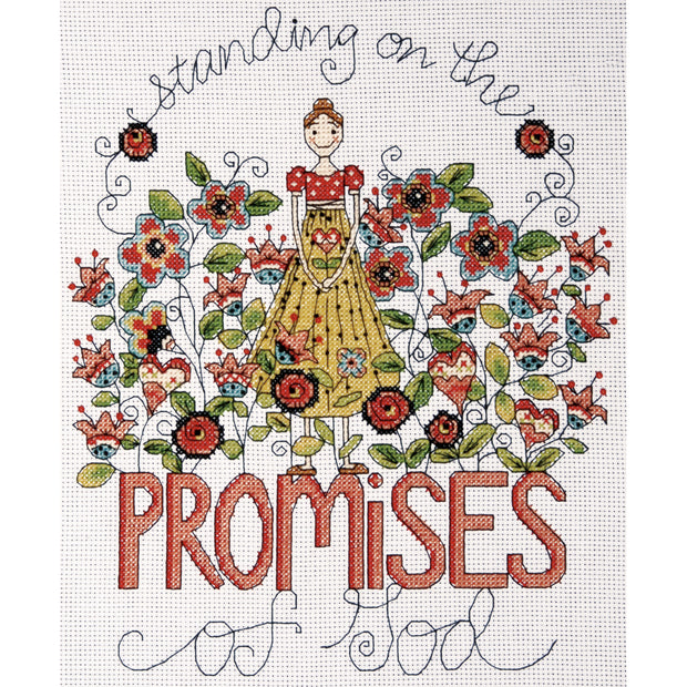 "Design Works Counted Cross Stitch Kit 8""X10""-Heartfelt Promises (14 Count)"
