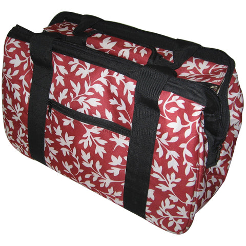 "JanetBasket Eco Bag-18""X10""X12"" Red Floral"