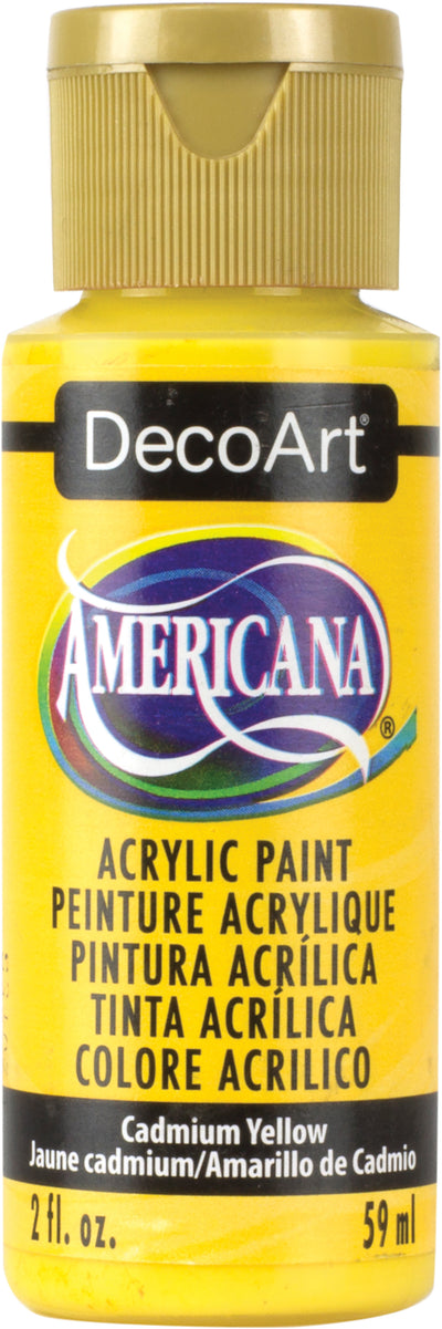 Americana Acrylic Paint 2oz-Cadmium Yellow - Transparent