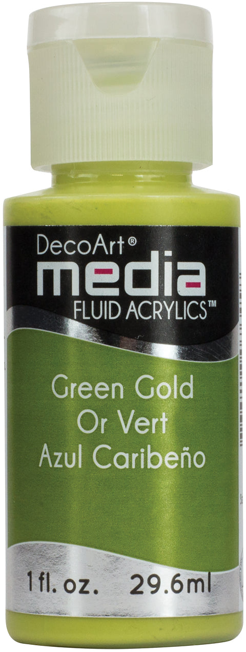 Media Fluid Acrylic Paint 1oz-Green Gold (Series 5)