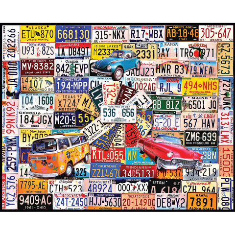 "Jigsaw Puzzle 1000 Pieces 24""X30""-License Plates"