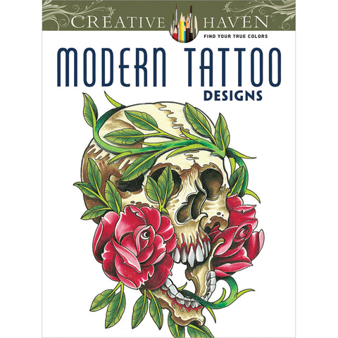 Dover Publications-Creative Haven: Modern Tattoo Designs