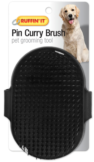 Palm Pin Curry Brush For Dogs & Cats-