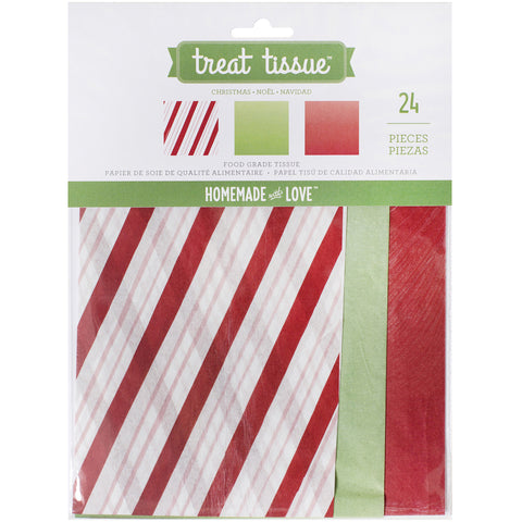 Homemade With Love Food Craft Tissue 24/Pkg-Christmas