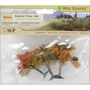 "Autumn Tree 2.25"" To 2.5"" 3/Pkg-"