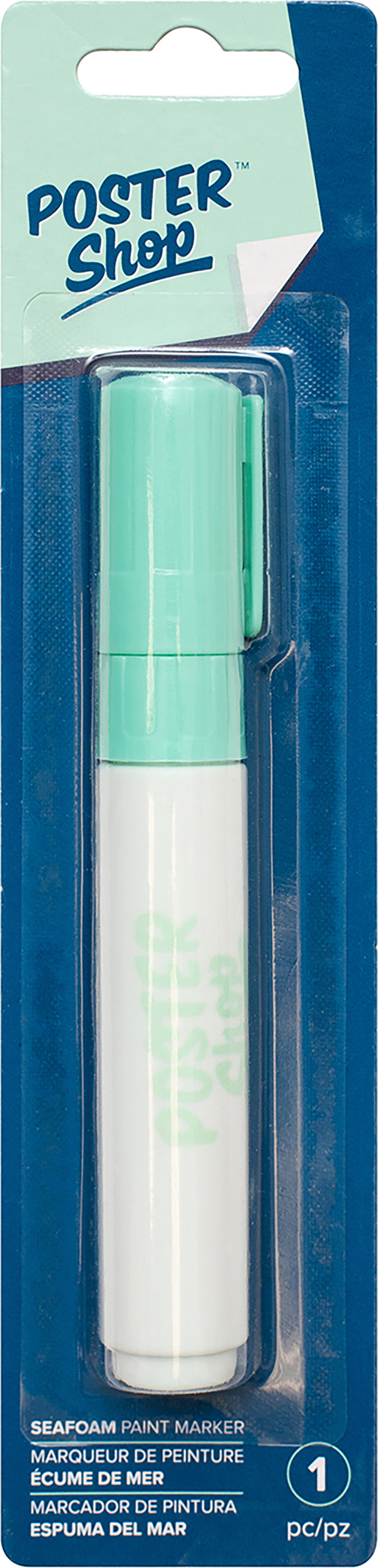 American Crafts Poster Shop Opaque Marker 8mm Chisel Tip-Seafoam