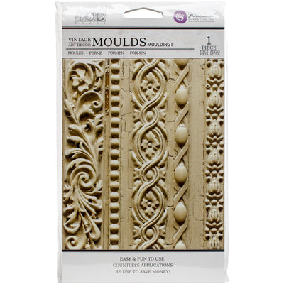 "Iron Orchid Designs Vintage Art Decor Mould 5""X8""-Moulding #1"