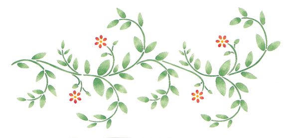 "Stencil Magic Decorative Stencils-Delicate Vine Border 8.25""X18"""