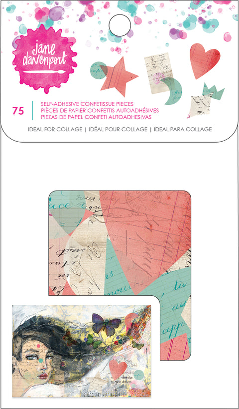 Jane Davenport Mixed Media 2 Confettissue 75/Pkg-Self-Adhesive Die-Cut Paper