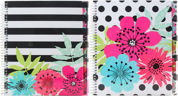 "Studio C 5-Subject Notebook 11""X8.5"" 150 Sheets-Sugarland, College Rule, Assorted Colors"