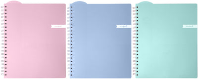 "Studio C 1-Subject Noted Executive Notebook 9""X11""-College Rule, Assorted Colors, 100 Sheet"