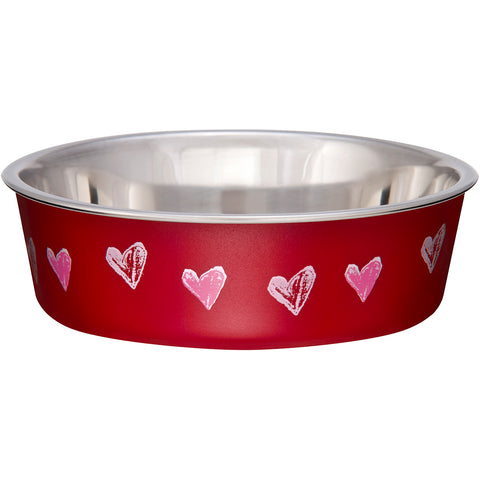 Bella Bowl Expressions-Small-Hearts - Valentine Red
