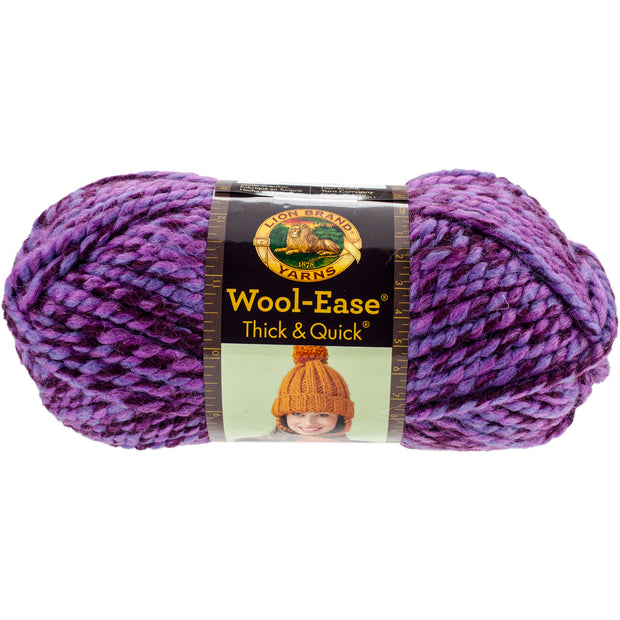 Lion Brand Wool-Ease Thick & Quick Yarn-Grape