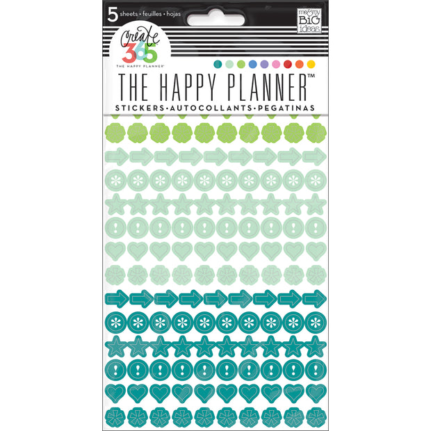 Happy Planner Stickers 5/Sheets -Colorful Dots