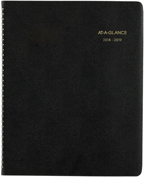 "AT-A-GLANCE Large Academic Monthly Planner 8.875""X11""-18 Months, July 2018-December 2019"