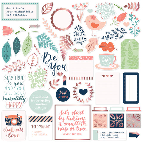 PinkFresh Die-Cuts 54/Pkg-Be You